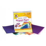 Origami Paper, 30 lbs., 9 x 9, Assorted Bright Colors, 40 Sheets/Pack, Sold as 1 Package