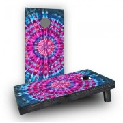 "Custom Cornhole Boards Tie Dye Cornhole Game CCB384 Bag Fill: All Weather Plastic Resin, Size: 48"""" H x 12"""" W"