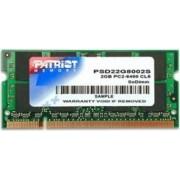Memorie Laptop Patriot 2 GB 800 MHz DDR2 Non-ECC SODIMM