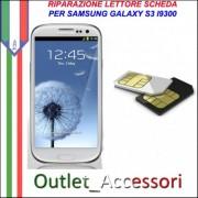 Sostituzione Riparazione Lettore Sim Pista Flat Scheda Rotto per Samsung Galaxy S3 Neo I9301