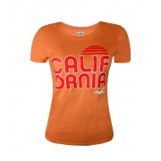 Camiseta - Hollister Feminina - Laranja