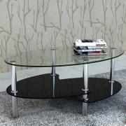 vidaXL Konferenční stolek s exkluzivním tříúrovňovým designem, černý