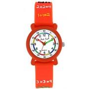 Pacific Time Kinder-Armbanduhr Rechnen 1x1 Analog Quarz orange 20693