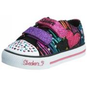Skechers Shuffles Triple Time 10203N BKMT - Zapatillas de lona para niña