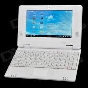 """V702 7.0"""" LCD Android 4.0 Netbook w/ Wi-Fi / Camera / LAN / HDMI / SD Slot - White"""