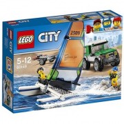 Lego City 4x4 With Catamaran 60149 Multi Color