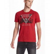 GUESS Los Angeles Crew Tee havana red