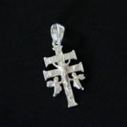 Pingente Prata cruz Caravaca 1009