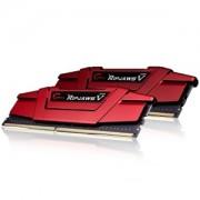 Memorie G.Skill Ripjaws V Blazing Red 8GB (2x4GB) DDR4 2400MHz CL15 1.2V Intel Z170 Ready XMP 2.0 Dual Channel Kit, F4-2400C15D-8GVR