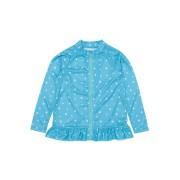 【50%OFF】REYES REYES UV プリント フリル フルジップ ラッシュガード ターコイズ 130 ベビー用品 > 衣服~~ベビー服