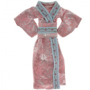 Magideal Pink Kimono Clothes For Barbie Dolls