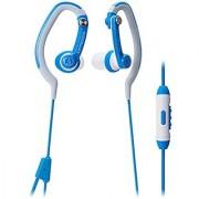 Audio-Technica ATH-CKP200iS SonicSport In-ear Headphones for Smartphones Blue