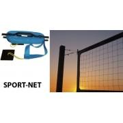 Premium - Zestaw do siatkówki i badmintona (siatki + słupki + linie turniejowe)