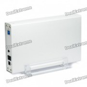 """USB 2.0 3.5"""" SATA I / II HDD Enclosure avec Stand support (5Gbps Super-Speed)"""