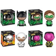 Funko Dorbz: DC Super Heroes Set of 4 Vinyl Figures with White Flash CHASE Figure