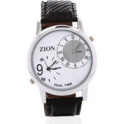 Zion MenS White Dual Time MenS Watch