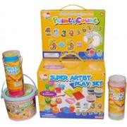 Bubble Hut Super Artist Playset - Paint & Count, Finger Paint, Magic Clay and Funny Dough set