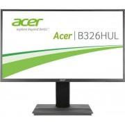 "Monitor VA LED Acer 32"" B326HULA, WQHD (2560 x 1440), HDMI, DVI, DisplayPort, 6 ms, Boxe, Pivot (Gri inchis)"