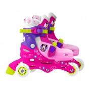 STAMP - DISNEY - MINNIE - J100730 - Vélo et Véhicule pour Enfant - Patins en ligne 2 en 1 - 3 roues Minnie Bow Tique - Taille 27 29