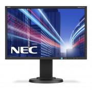NEC MultiSync E223W black 22' LCD monitor with LED backlight, TN panel, resolution 1680x1050, VGA, DVI, DisplayPort, 110 mm height adjustable
