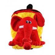 Tickles Red Elephant Shoulder school Bag For Kids Girl 32 cm