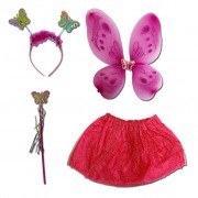 Girls Fairy Princess Costume Set - Ages 4-6
