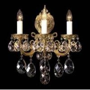 Cast crystal wall sconce 8004 03/03-505S