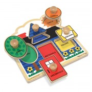 Melissa & Doug First Shapes Jumbo Knob Puzzle - 2053
