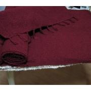 Prekrivač od bucle - efektne predje CC bordo - deblje tkanje