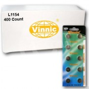 Vinnic L1154 400Ct Watch Batteries 1.5V Alkaline AG13 LR44