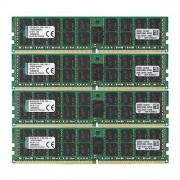 Kingston Technology Kingston KVR21R15D4K4/64 RAM 64Go 2133MHz DDR4 ECC Reg CL15 DIMM Kit (4x16Go) 288-pin