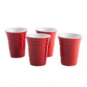 """""""Red Cup Shot Glass Set of 4"""""""