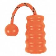 Gumijáték kutyának Fun Mot, narancssárga, 9 cm