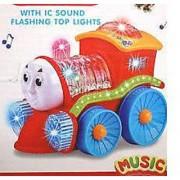 Flashing Light Train Engine With LED Lights Music & Rotation