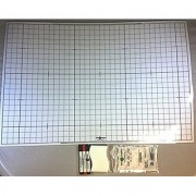 Battle Grid Game Mat Dry Erase White 24 X 36 with 3 Markers and Eraser: Double-Sided 1 squares for role playing games and miniatures
