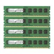 Kingston KVR1333D3N9HK4/32G Memoria RAM da 32 GB, 1333 MHz, DDR3, Non-ECC CL9 DIMM Kit (4x8 GB), 240-pin, 1.5 V