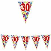 Ghirlanda Fanioane din plastic culori asortate 6 m x 25 cm numarul 30 Big Party