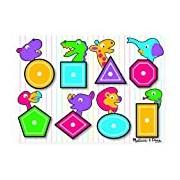 Melissa & Doug Wooden Peg Puzzle - Shapes