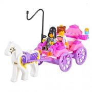 Dodolive® Princess Carriage Children Kid Puzzle Building Blocks Educational DIY Assemblage Bricks Toys Compatible with Minifigures Sets