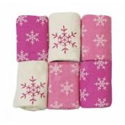 Flanel pelenkák toTs-smarTrike hópelyhek 6 darab 100% fésült pamut flanel rózsaszín