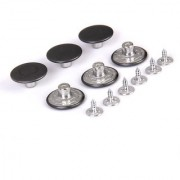 Jeans Glossy Buttons Hammer on 20mm Pack of 6 Sets Antique Silver