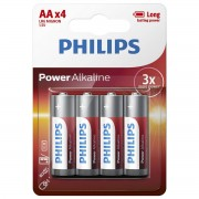 Baterii Philips Power Alkaline AA 4-BLISTER