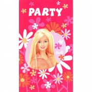 Invitatii de petrecere Barbie, Amscan 550375, Set 6 buc