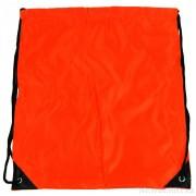 Pytlík do tělocviku / na cvičky jednobarevný stahovatelný oranžový 3H02