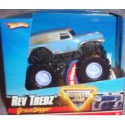 Hot Wheels Monster Jam Rev Tredz *BLUE & CHROME* GRAVE DIGGER Official Monster Truck Series 1:43 Scale by Hot Wheels