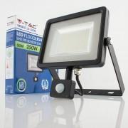 Projetor LED 50w»250W Luz Fria 4000Lm SENSOR SLIM PR