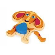 Oops Happy Dog Puzzle Giocattoli Di Legno 26,6X26,5X4,6 Cm