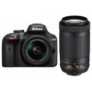 Nikon D3400 kit (AF-P 18-55mm f/3.5-5.6G VR + AF-P 70-300mm f/4.5-6.3G ED VR)