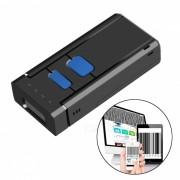 Escaner laser inalambrico de codigo de barras Bluetooth - Negro