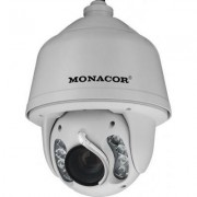 Monacor HDCAM-5090IR PTZ-High-Speed-HD-SDI-IR-Dome-Kamera im Außengehäuse